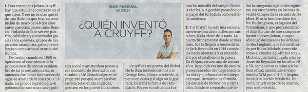 Quién inventó a Cruyff (25.5.16)